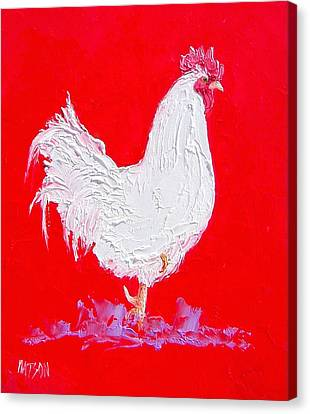 Rooster For The Country Kitchen Canvas Print by Jan Matson