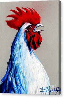 Cockscomb Canvas Print - Rooster Head by Mona Edulesco