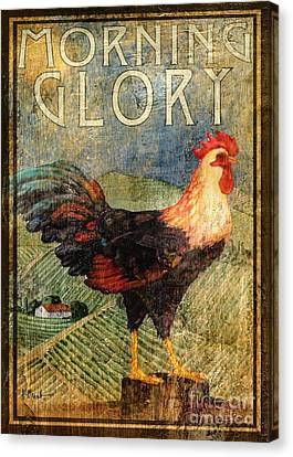 Rooster Signs 3 Canvas Print by Paul Brent