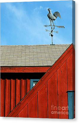 Rooster Weathervane Canvas Print