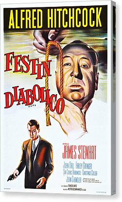 Films By Alfred Hitchcock Canvas Print - Rope, Aka Festin Diabolico, Top Alfred by Everett