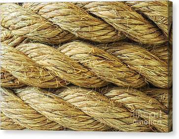 Rope Background Texture Canvas Print by Amanda Elwell