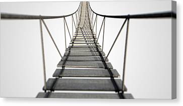 Rope Bridge Canvas Print by Allan Swart
