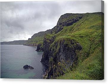 Mystical Landscape Canvas Print - Rope Bridge Paradise Ireland by Betsy Knapp