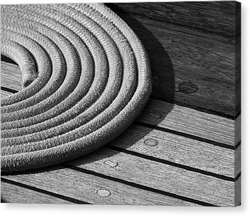 Rope Coil Canvas Print by Tony Grider