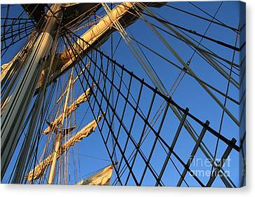 Ropes And Flags Canvas Print