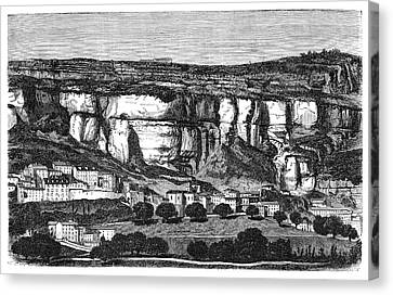 1874 Canvas Print - Roquefort Cheese Caves by Science Photo Library
