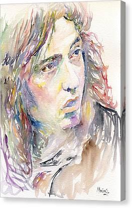 Rory Gallagher Canvas Print by Marina Sotiriou