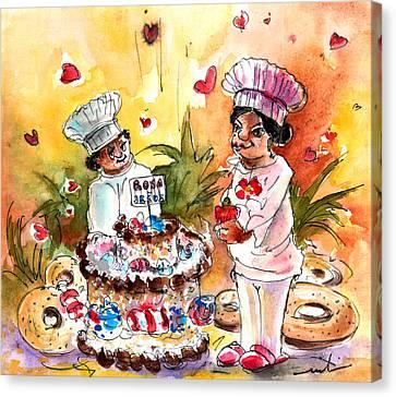 Rosa And Jesus Wedding In Alcazar De San Juan Canvas Print by Miki De Goodaboom