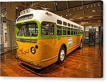 Rosa Parks Bus Canvas Print