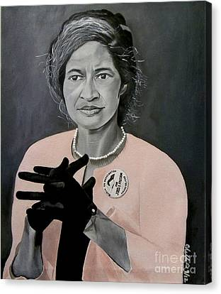 Rosa Parks Canvas Print by Chelle Brantley