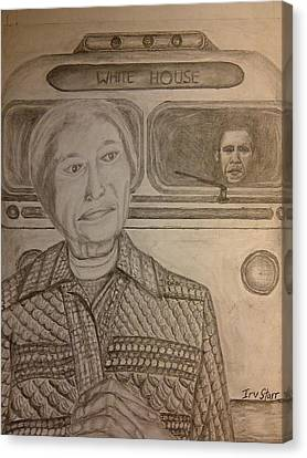 Rosa Parks Imagined Progress Canvas Print by Irving Starr
