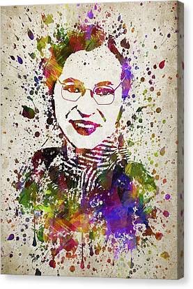 Rosa Parks In Color Canvas Print by Aged Pixel