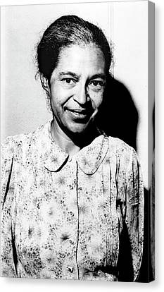 Rosa Parks Canvas Print by Library Of Congress