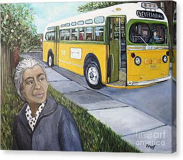 Rosa Parks Canvas Print by Reb Frost
