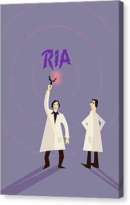 Rosalyn Yalow And Solomon Berson Canvas Print by Ramon Andrade 3dciencia