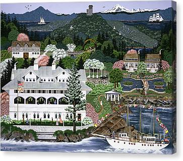 Canvas Print featuring the painting Rosario Resort by Jennifer Lake