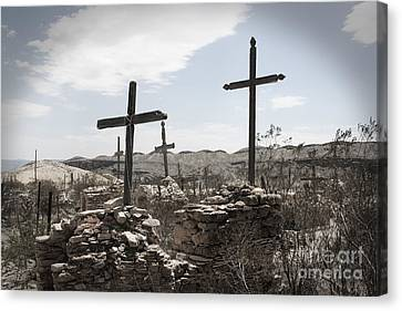 Rosary For The Dead Canvas Print by April Davis
