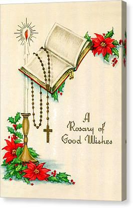 Rosary Good Wishes Canvas Print by Munir Alawi