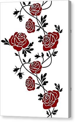 Rosas  Canvas Print by Galeria Zullian  Trompiz