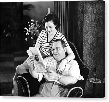 Roscoe Arbuckle & Addie Canvas Print by Underwood Archives