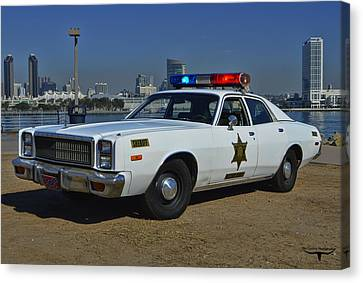 Roscoe's Squad Car Canvas Print by Tommy Anderson