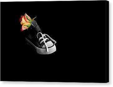 Rose And Shoe Canvas Print by Marwan Khoury