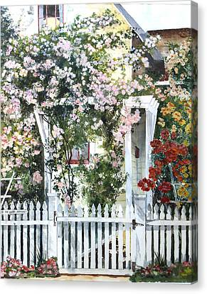 Rose Arbor Canvas Print by Susan Crossman Buscho