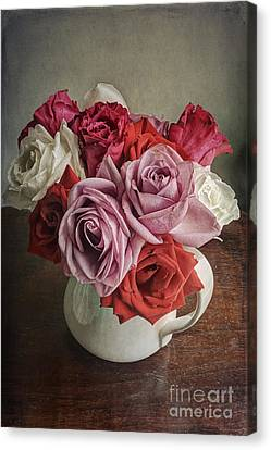 Rose Bounty Canvas Print by Terry Rowe