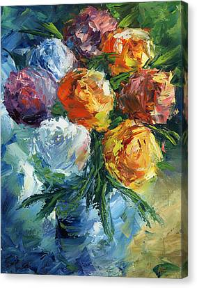 Rose Bouquet Canvas Print by Ash Hussein
