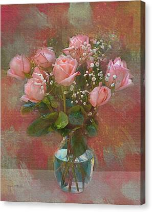 Rose Bouquet Canvas Print by Sandi OReilly