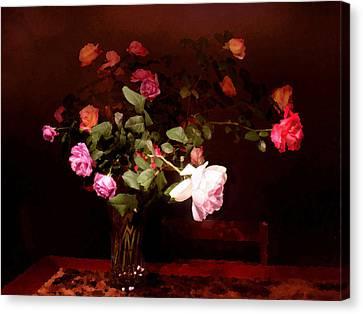 Rose Bouquet Canvas Print by Steve Karol