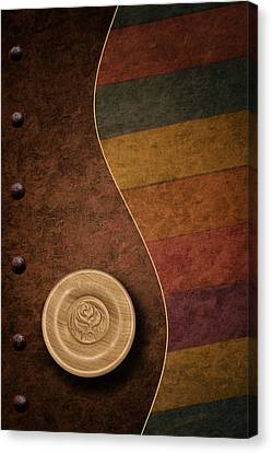 Rose Button Canvas Print by Tom Mc Nemar