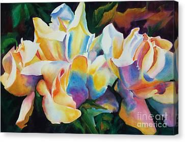 Rose Cluster Half Canvas Print