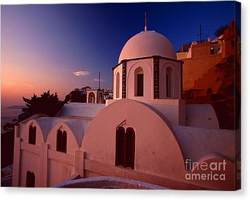 Rose Color Church Canvas Print by Aiolos Greek Collections