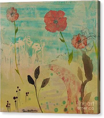Rose Colored Path Canvas Print by Robin Maria Pedrero