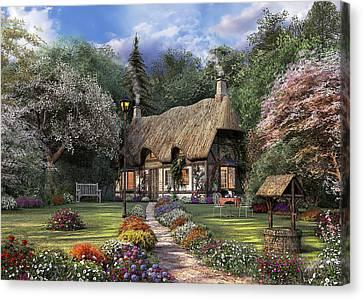 Rose Cottage Canvas Print by Dominic Davison