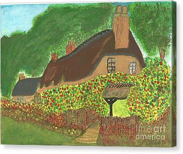 Rose Cottage Canvas Print by Tracey Williams