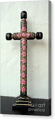 Rose Cross Canvas Print