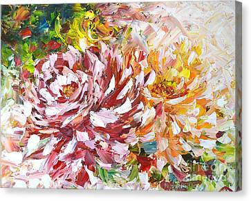 Rose Delight Canvas Print by Kathleen Pio