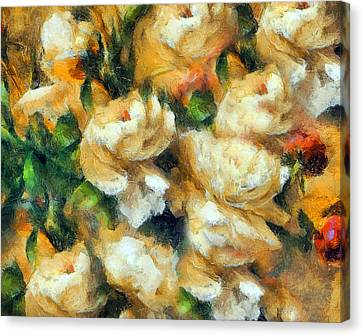 Rose Garden Abstract Expressionism Canvas Print by Georgiana Romanovna