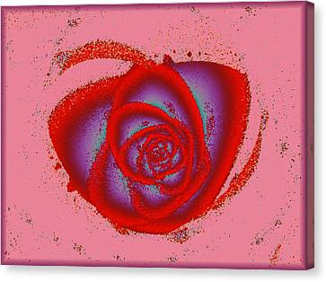Rose Heart Canvas Print
