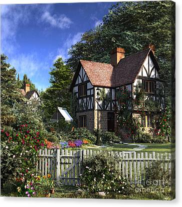 Pathway Canvas Print - Rose House by Dominic Davison