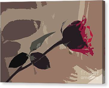 Rose In Abstract Digital Painting Canvas Print by Minding My  Visions by Adri and Ray