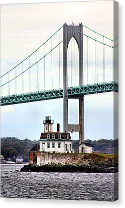 Rose Island Lighthouse Canvas Print