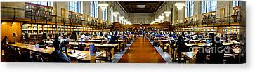 Rose Main Reading Room New York Public Library Canvas Print