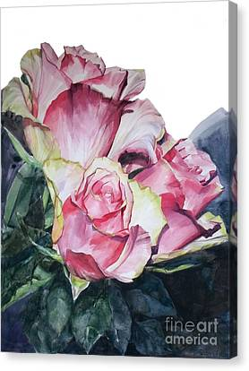Pink Rose Michelangelo Canvas Print