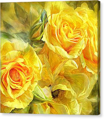 Rose Moods - Joy Canvas Print by Carol Cavalaris
