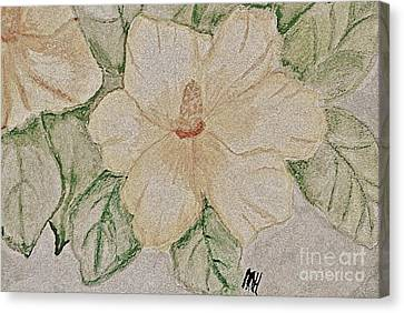 Rose Of Sharon Painting Canvas Print by Marsha Heiken