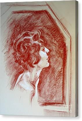 Rose Portrait Canvas Print